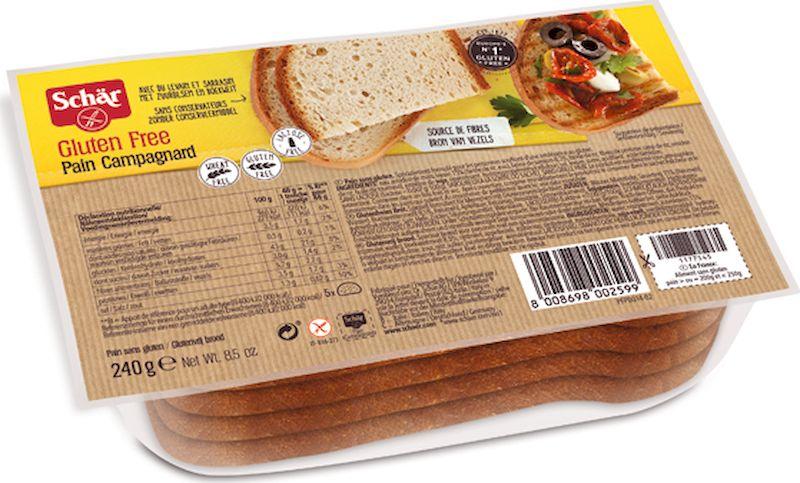Dr. Schar Pain Campagnard Хлеб деревенский, 240 г dr schar pan carre хлеб белый 400 г