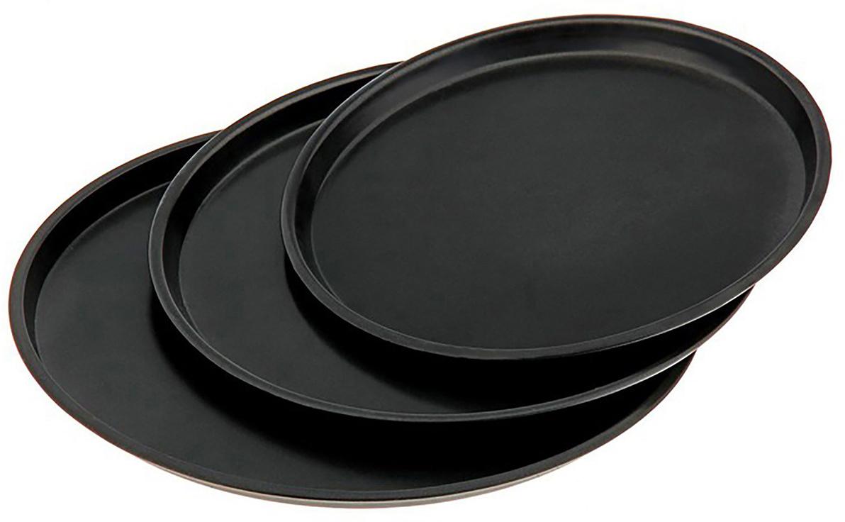 """Набор форм для выпечки Доляна """"Жаклин. Пицца"""", с антипригарным покрытием, 32/28/25 х 2 см, 3 шт"""