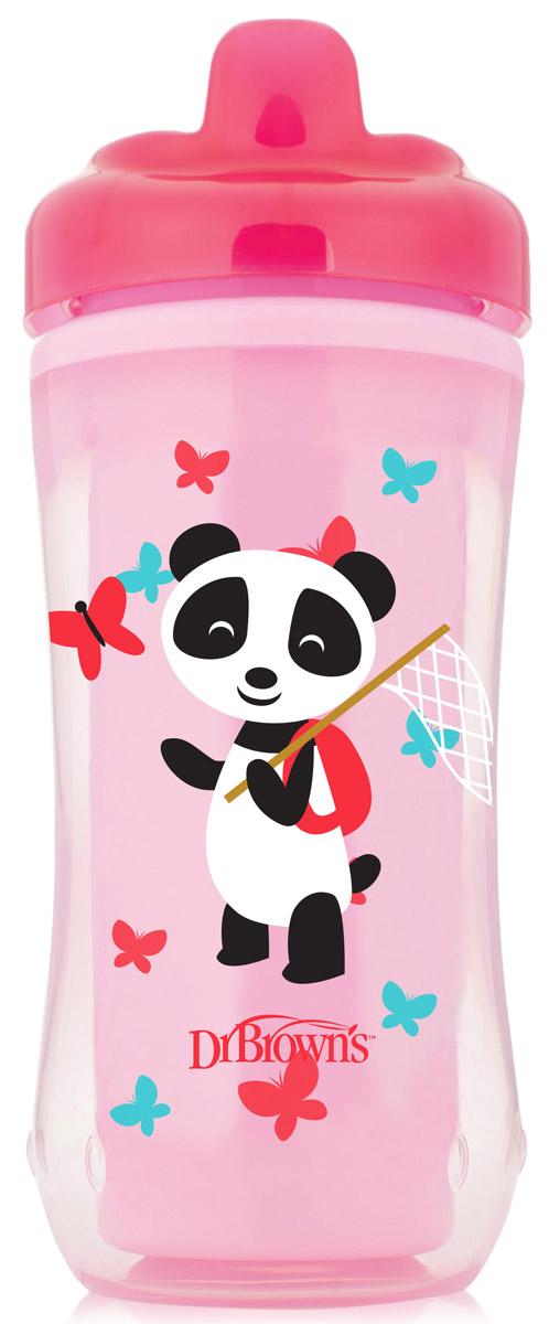 Dr. Browns Чашка-термос Розовая панда с носиком от 12 месяцев 300 мл