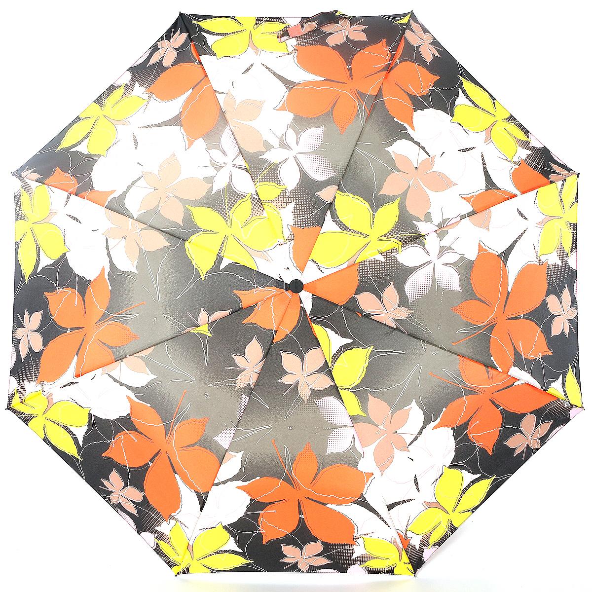 Зонт женский Airton, механика, 3 сложения, цвет: светло-коричневый, оранжевый, желтый. 3515-149 зонт airton 3515 женский механический