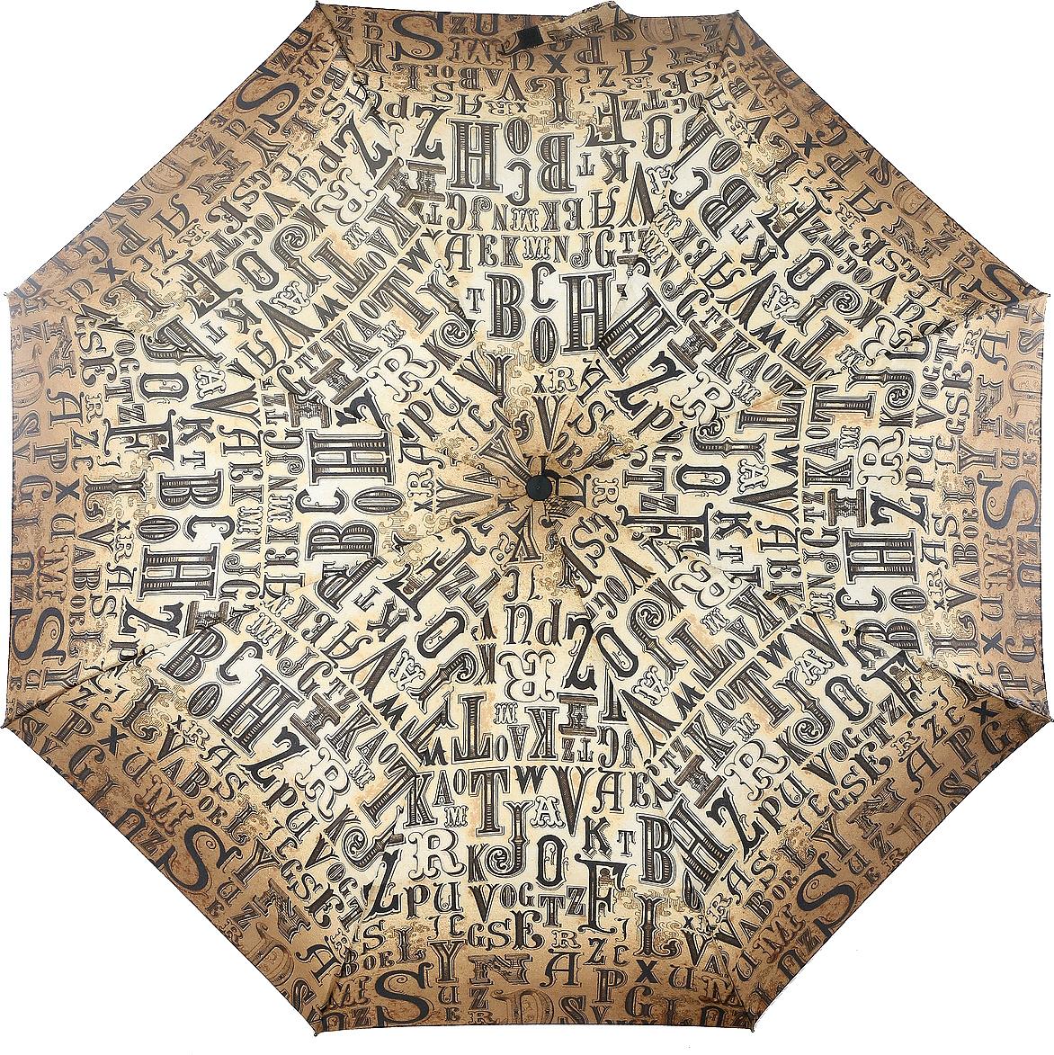 Зонт женский Airton, механика, 3 сложения, цвет: серо-коричневый, серый. 3515-100 зонт airton 3515 женский механический