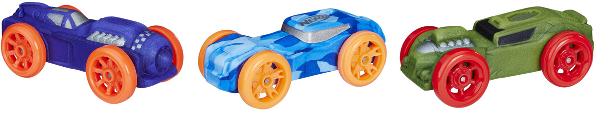 Nerf Машинка Nitro 3 шт