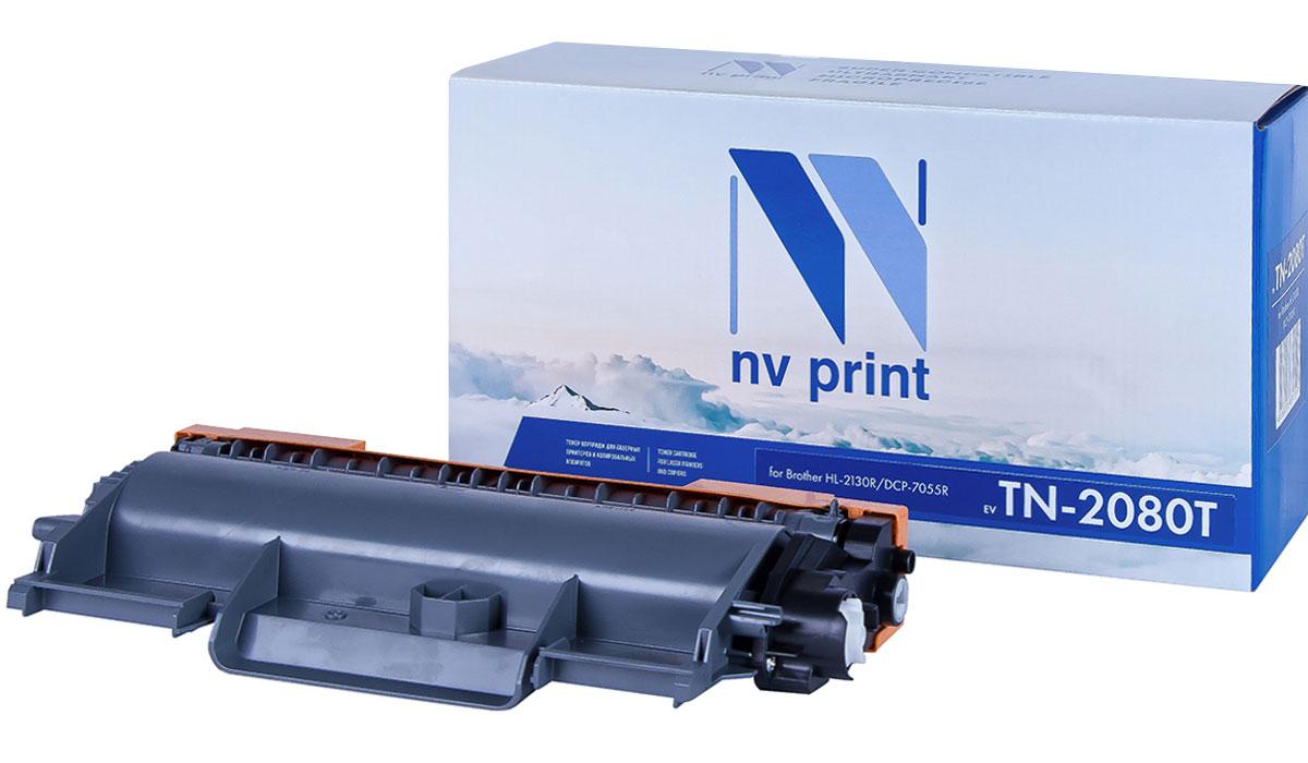 NV Print NV-TN2080T, Black тонер-картридж для Brother HL-2130R/DCP-7055R nv print tn3280 black тонер картридж для brother hl5340d 5350dn 5370dw 5380dn dcp8085 8070 mfc8370 8880
