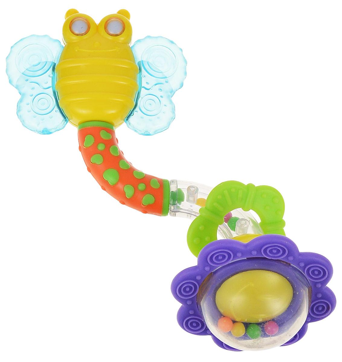 Мир детства Прорезыватель-погремушка Бабочка цена и фото