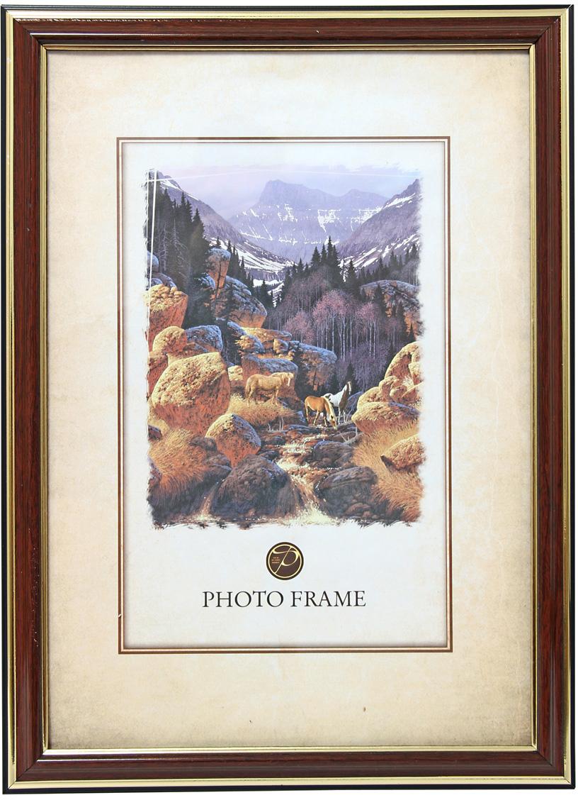 Фоторамка Pioneer, цвет: красное дерево, 21 х 30 см. 60070 PS 287-8 фоторамка pioneer 69976 404 бежевый фото 21 х 30 см