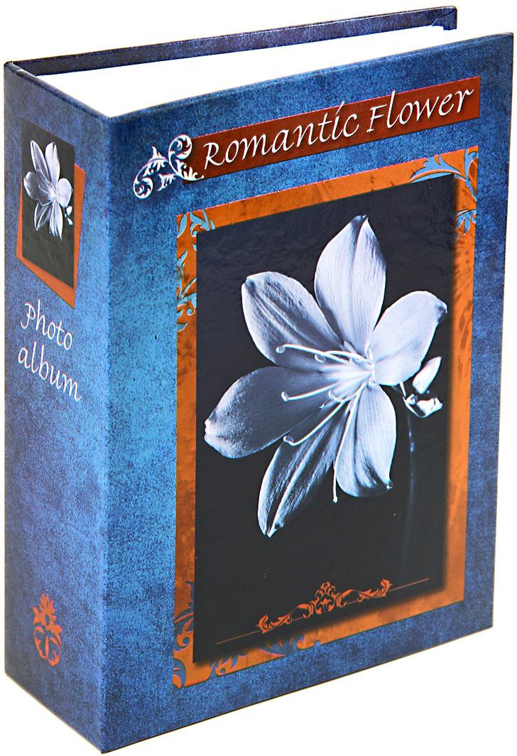 Фотоальбом Pioneer Romantic Flower, цвет: синий, 100 фото, 10 х 15 см фотоальбом platinum классика 240 фотографий 10 x 15 см