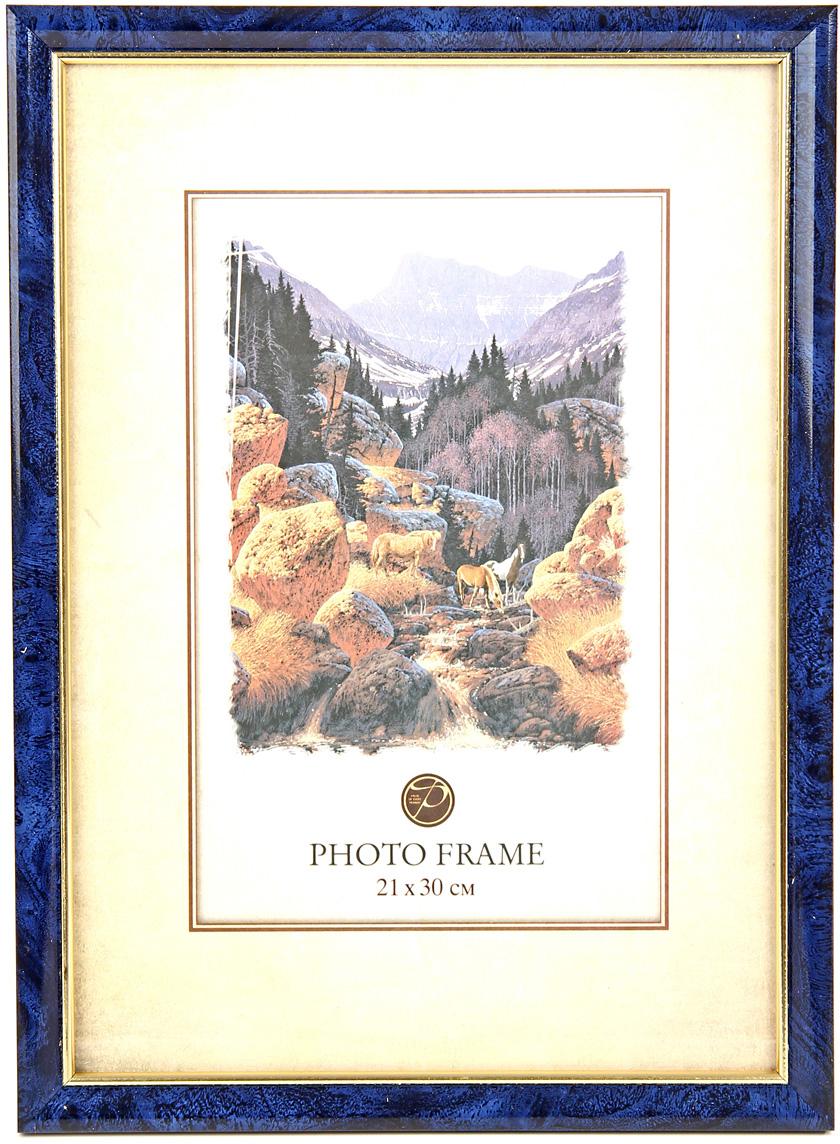 Фоторамка Pioneer, цвет: синий, 21 х 30 см. 61580 PS 9184-8 фоторамка pioneer 69976 404 бежевый фото 21 х 30 см