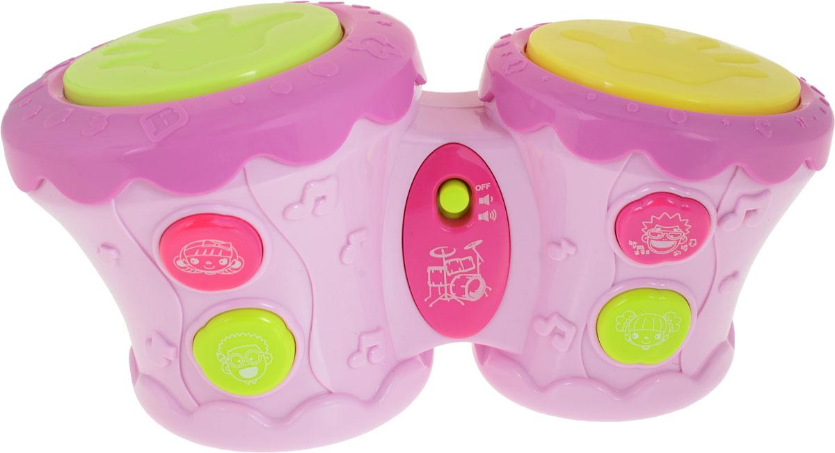 цены BebeLino Барабаны Бонго цвет розовый желтый