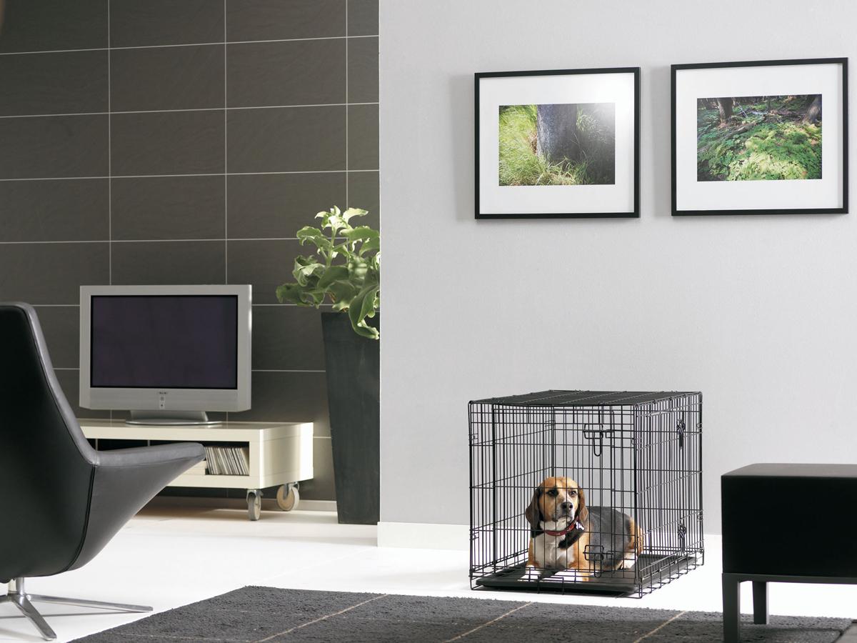 Переноска-клетка для животных Savic Cottage, цвет: черный, 76 х 49 х 55 см переноска клетка для животных savic cottage цвет черный 76 х 49 х 55 см