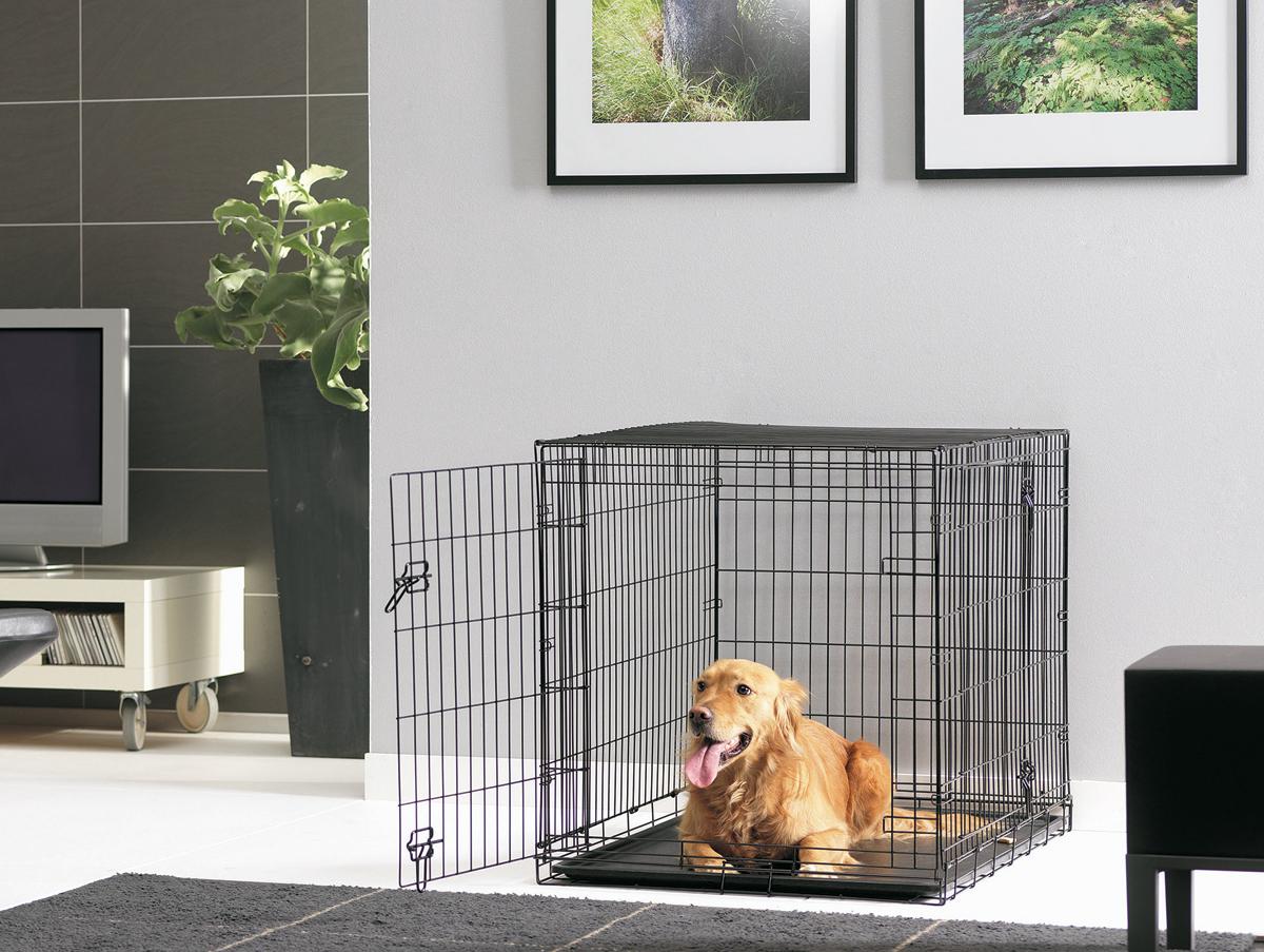 Переноска-клетка для животных Savic Cottage, цвет: черный, 118 х 77 х 84 см переноска клетка для животных savic cottage цвет черный 76 х 49 х 55 см