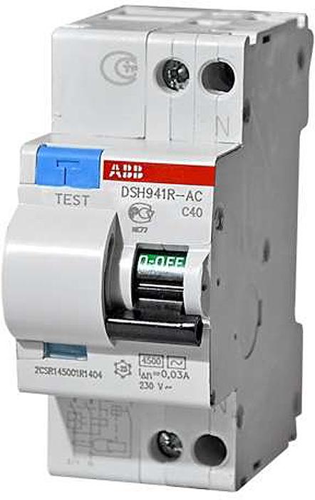 Дифференциальный автомат ABB DSH941R, 1П+N 2мод. C 25А 30мА тиП AC 4.5кА дифференциальный автомат ekf proxima авдт 63 16а 30ма c электронный тип a 6ка
