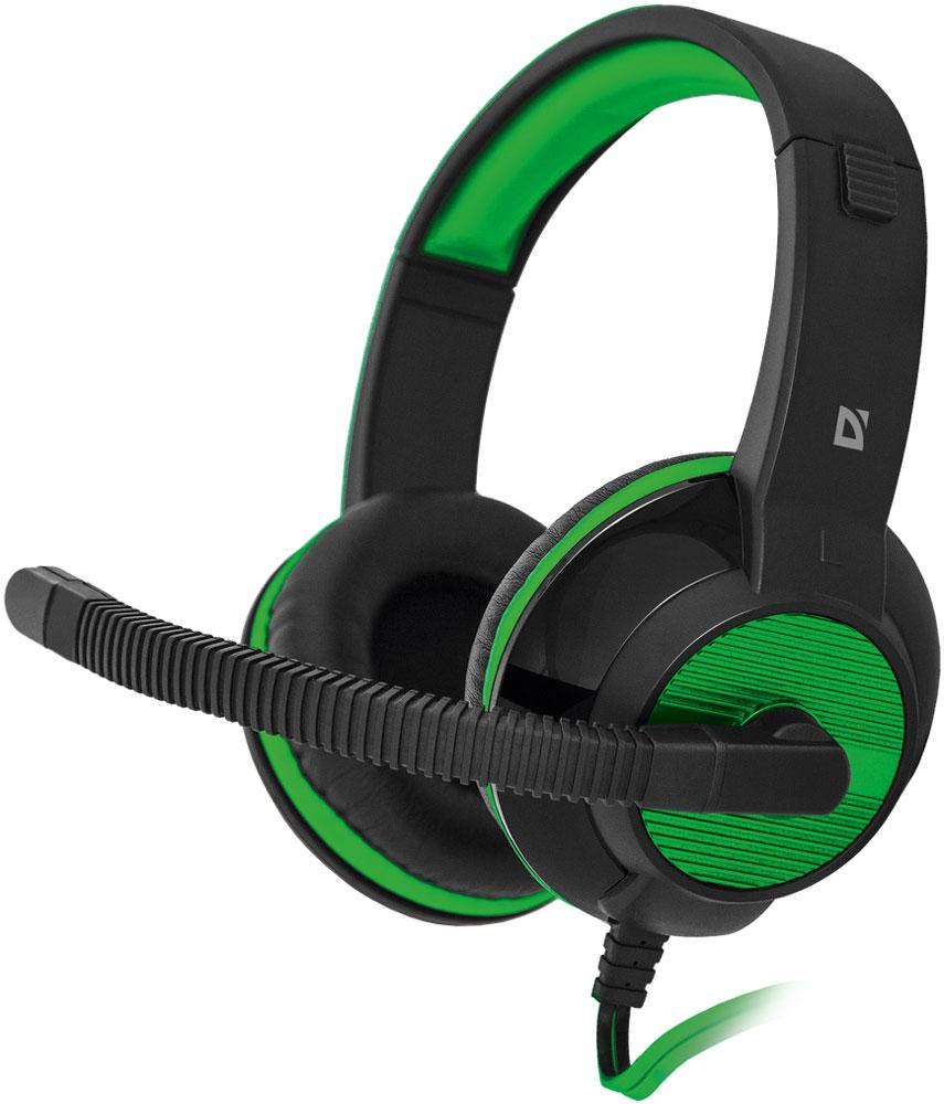 Игровая гарнитура Defender Warhead G-200, Black Green