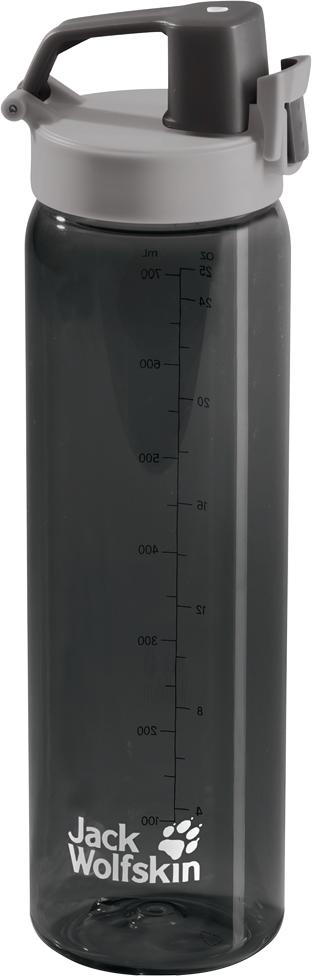 Бутылка спортивная Jack Wolfskin Tritan Bottle, цвет: черный, 700 мл. 8006131-6350 термос jack wolfskin thermo bottle grip 0 9 цвет черный 0 9 л 8000331 6000
