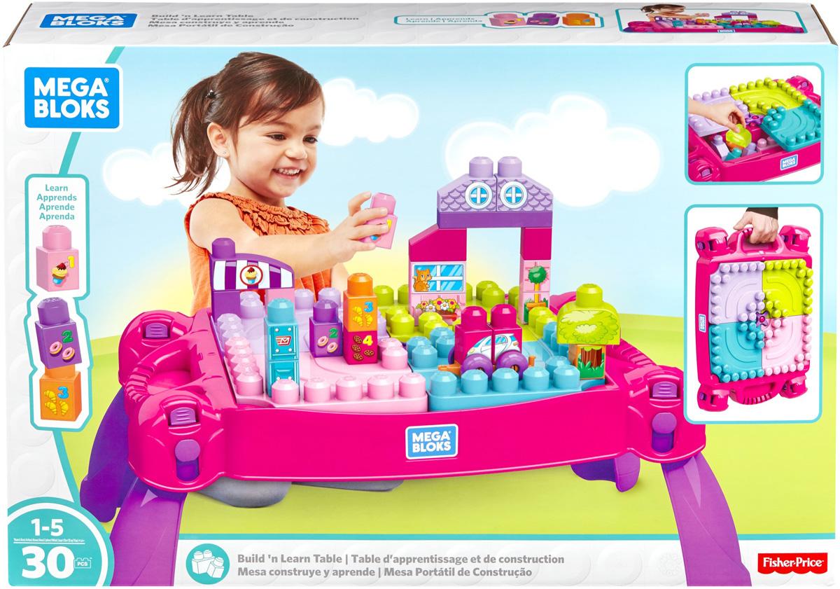 цены на Mega Bloks Pre-School Стол для конструирования Мой первый конструктор цвет розовый  в интернет-магазинах