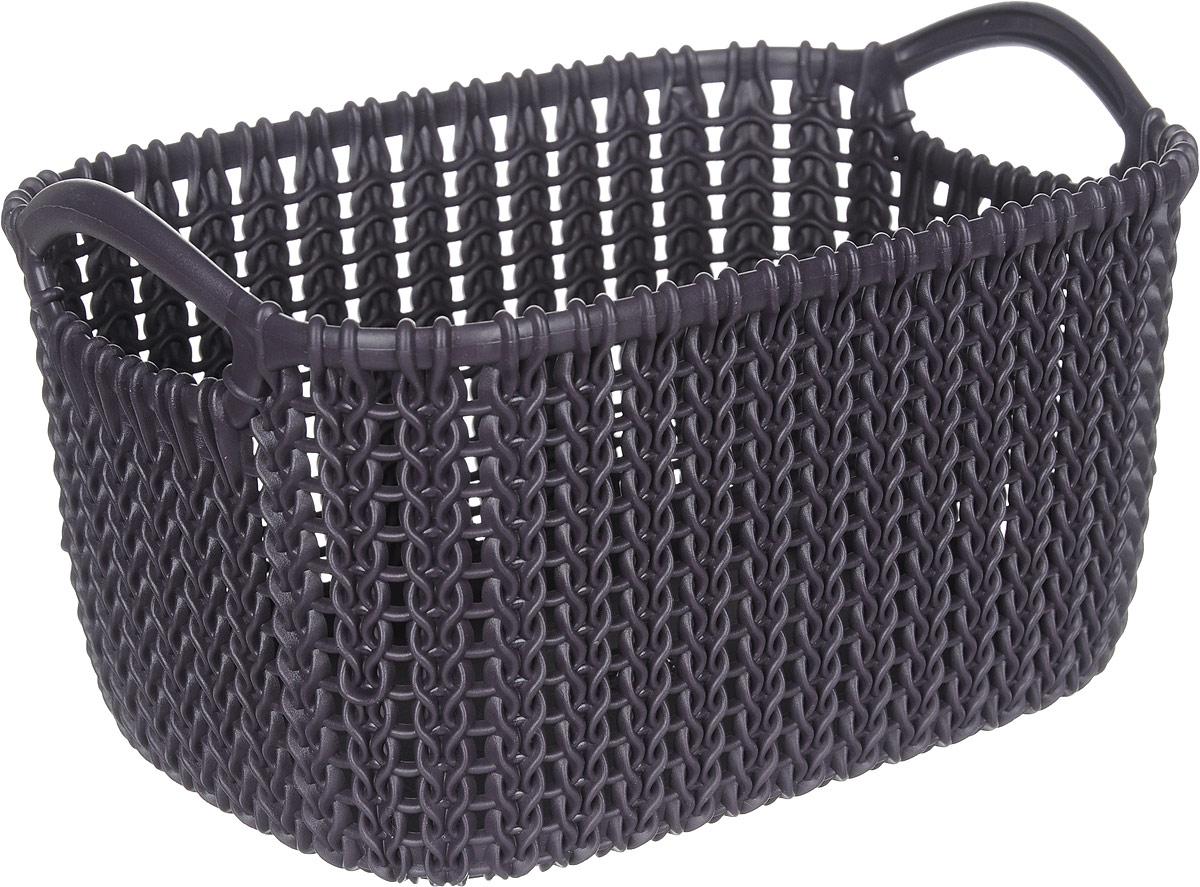 Фото - Корзина универсальная Curver Knit, цвет: фиолетовый, XS, 3 л корзина для хранения curver knit 3 л прямоугольная голубой