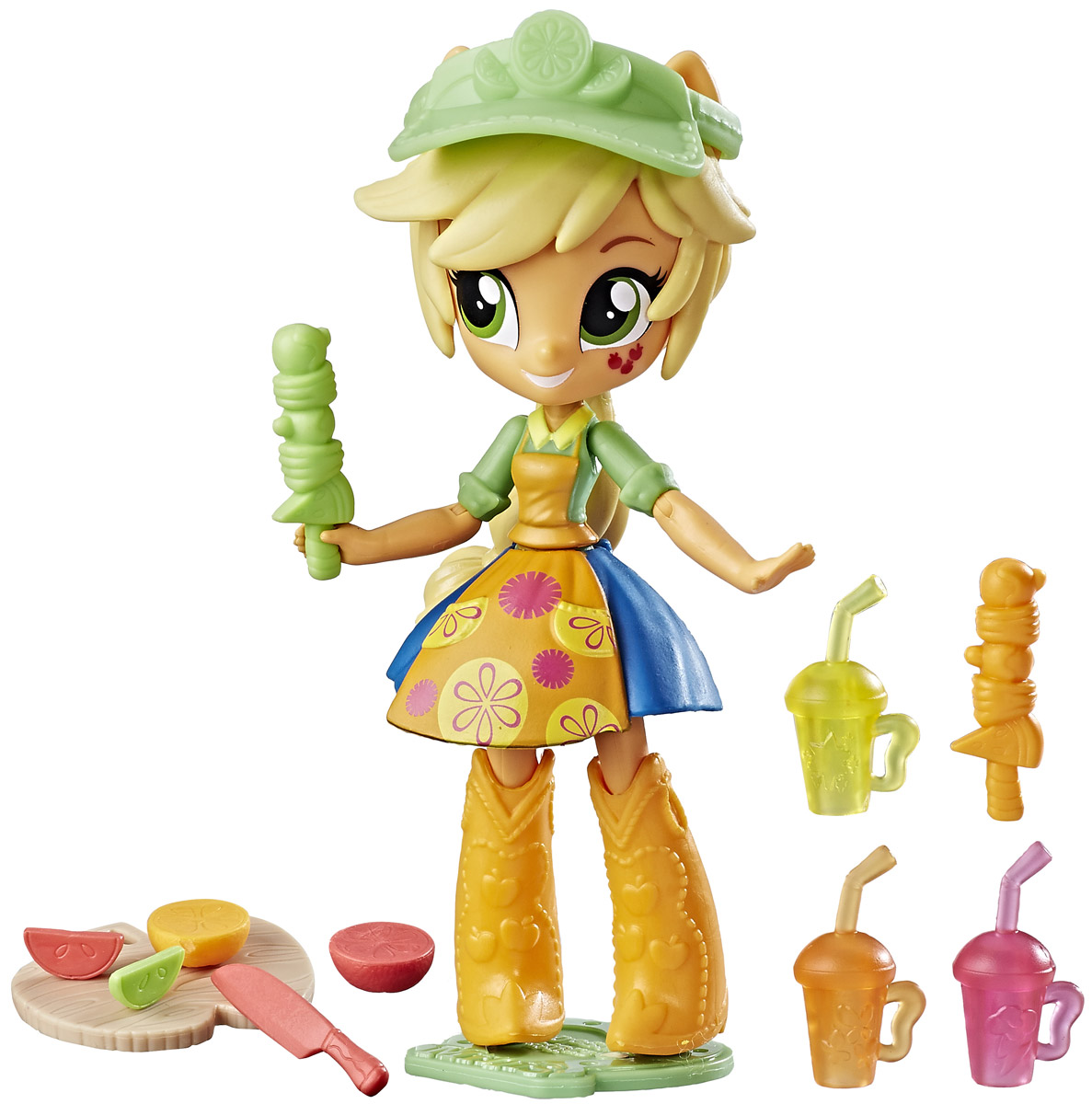 My Little Pony Equestria Girls Мини-кукла Applejack Fruit Smoothies Shop цена