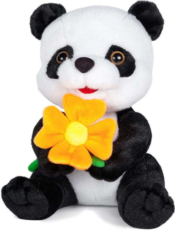 Maxitoys Мягкая озвученная игрушка Панда с цветочком 22 см александрова з первые слова раз два три четрые пять