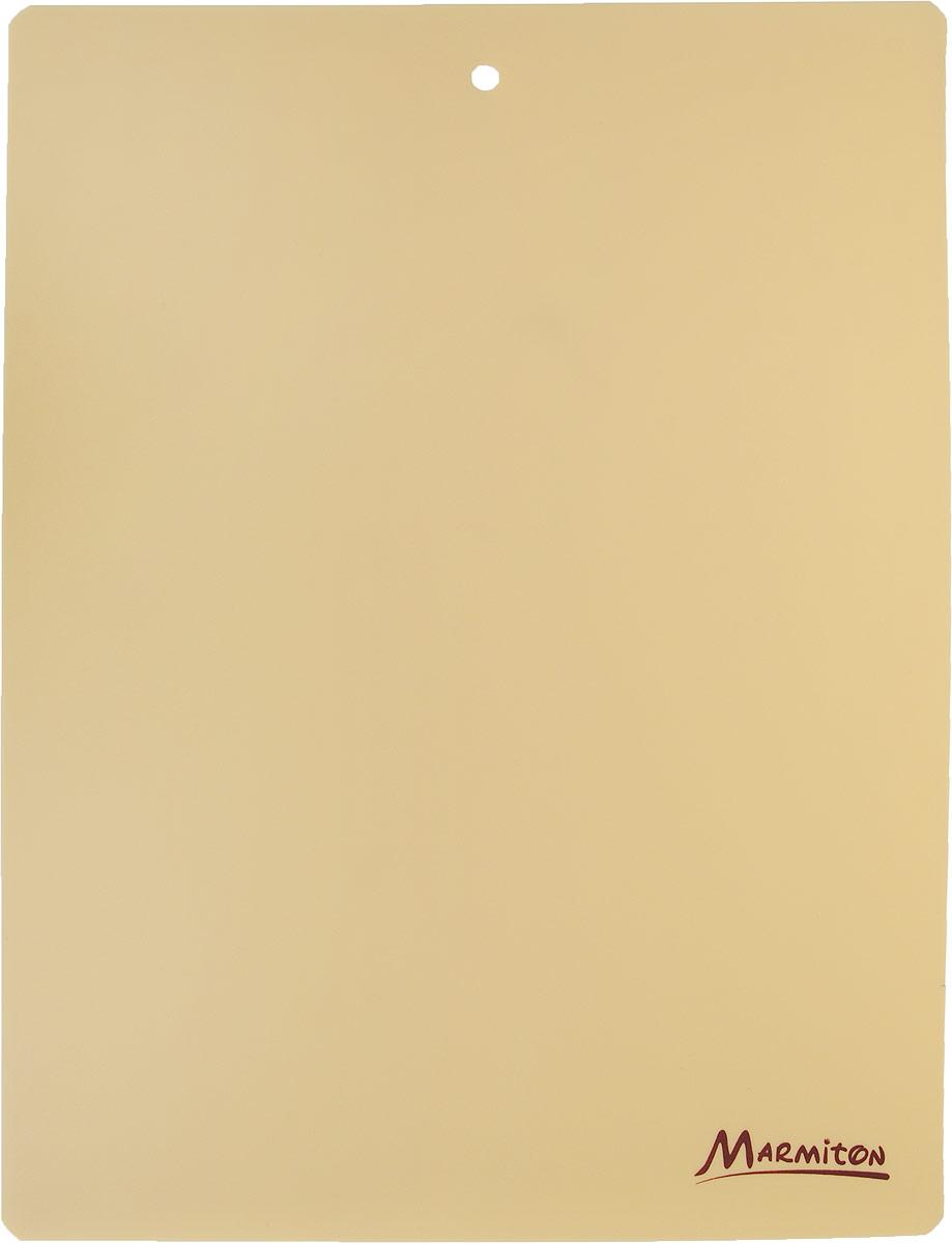 Доска разделочная Marmiton, гибкая, цвет: бежевый, 38 х 28 см разделочная доска домашний сундук гибкая цвет красный синий 2 шт