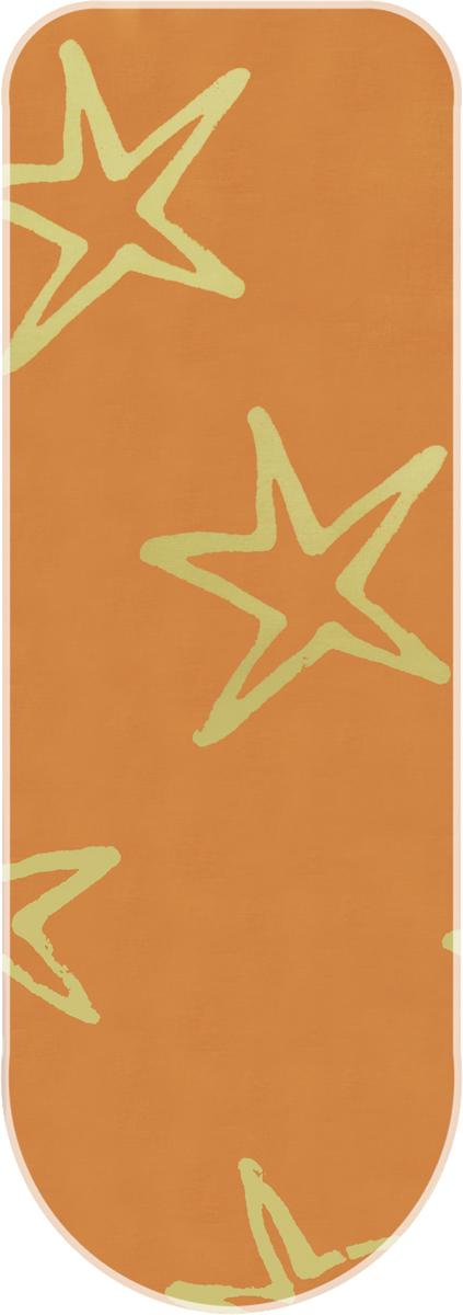 Чехол для гладильной доски Attribute Express, с поролоном, цвет: желтый, 140 х 60 см чехол для гладильной доски attribute express цвет зеленый 140 х 60 см