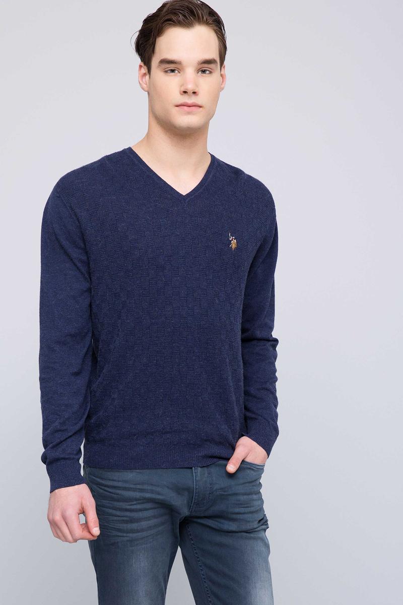 Пуловер U.S. Polo Assn. пуловер с круглым вырезом из тонкого трикотажа из шерсти и кашемира axel