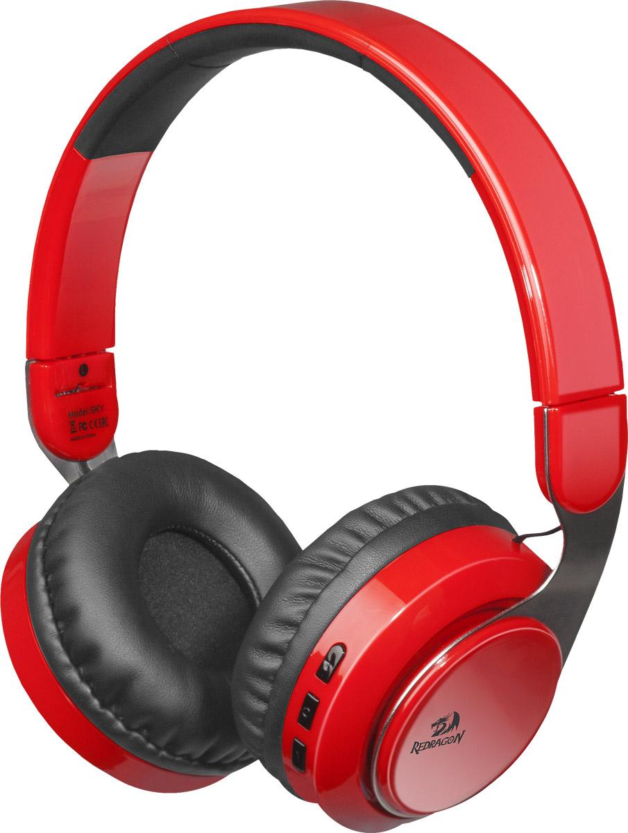 Беспроводная гарнитура Redragon Sky R красный, Bluetooth стерео bluetooth гарнитура sony sbh56 silver