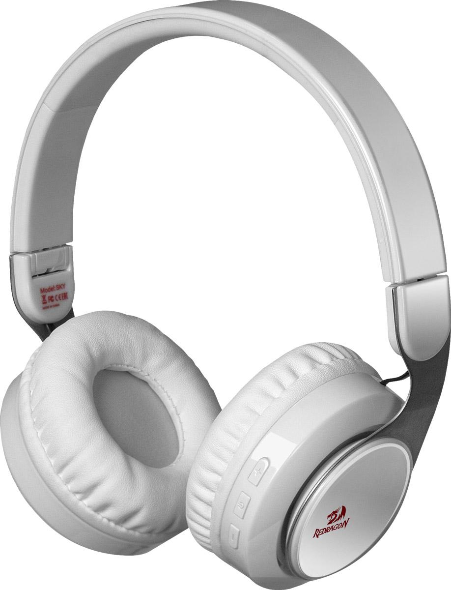 Bluetooth-гарнитура Redragon Redragon Sky, белый стерео bluetooth гарнитура sony sbh56 silver