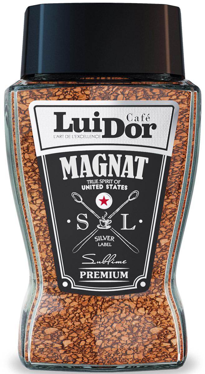 Luidor Magnat Silver Label кофе растворимый, 95 г цена