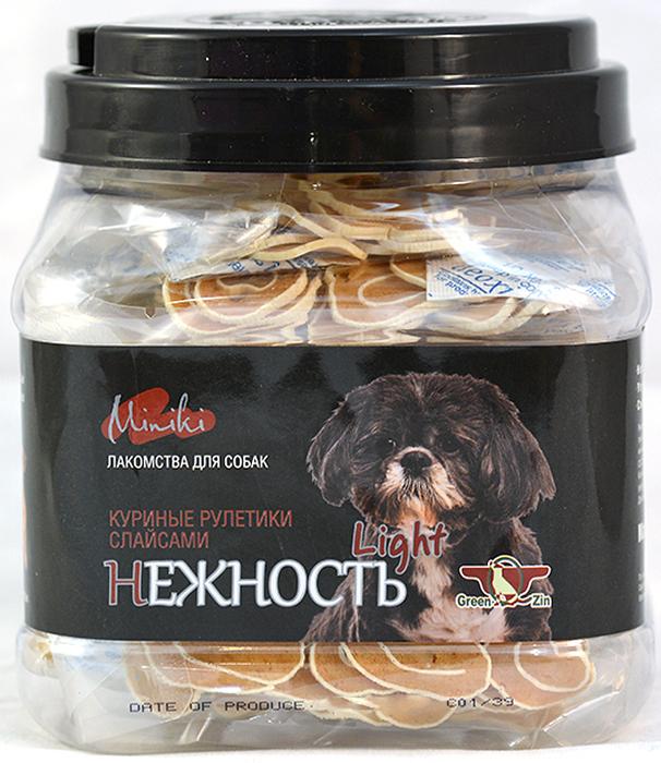 Лакомство для собак GreenQZin Миники Нежность лайт, куриные рулетики слайсами для мини-пород, 480 г сульф 480 для собак