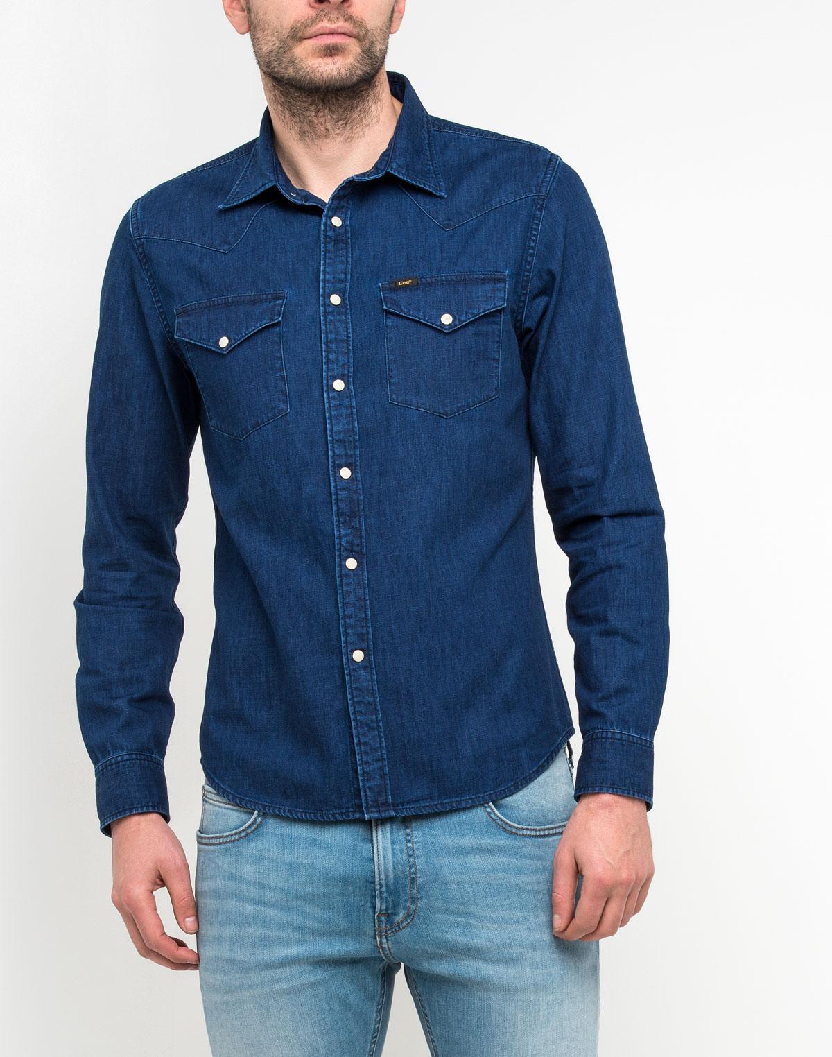 Рубашка Lee рубашка мужская lee цвет синий l643pllh размер s 46