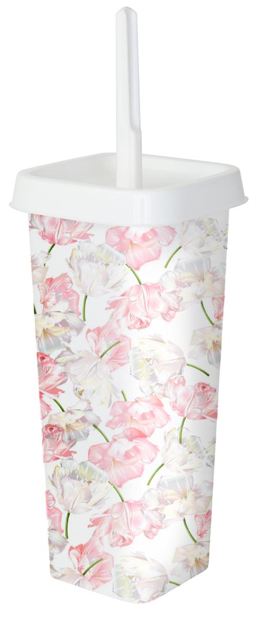 "Ершик для туалета Svip ""Квадра. Цветы"", с подставкой"