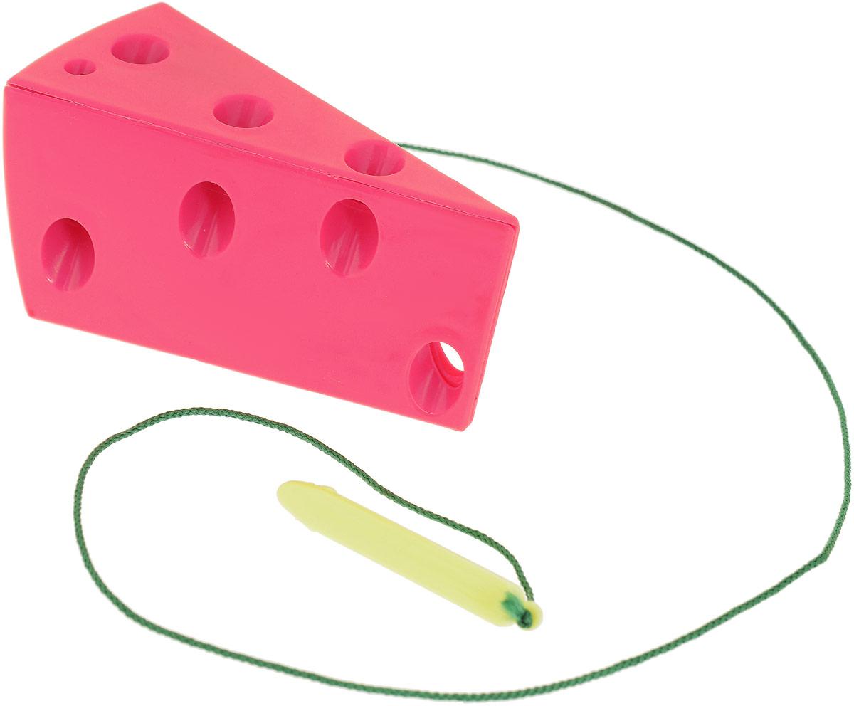 Игра-шнуровка для малышей Пластмастер Кусочек сыра, цвет в ассортименте игра пластмастер ланч 21029