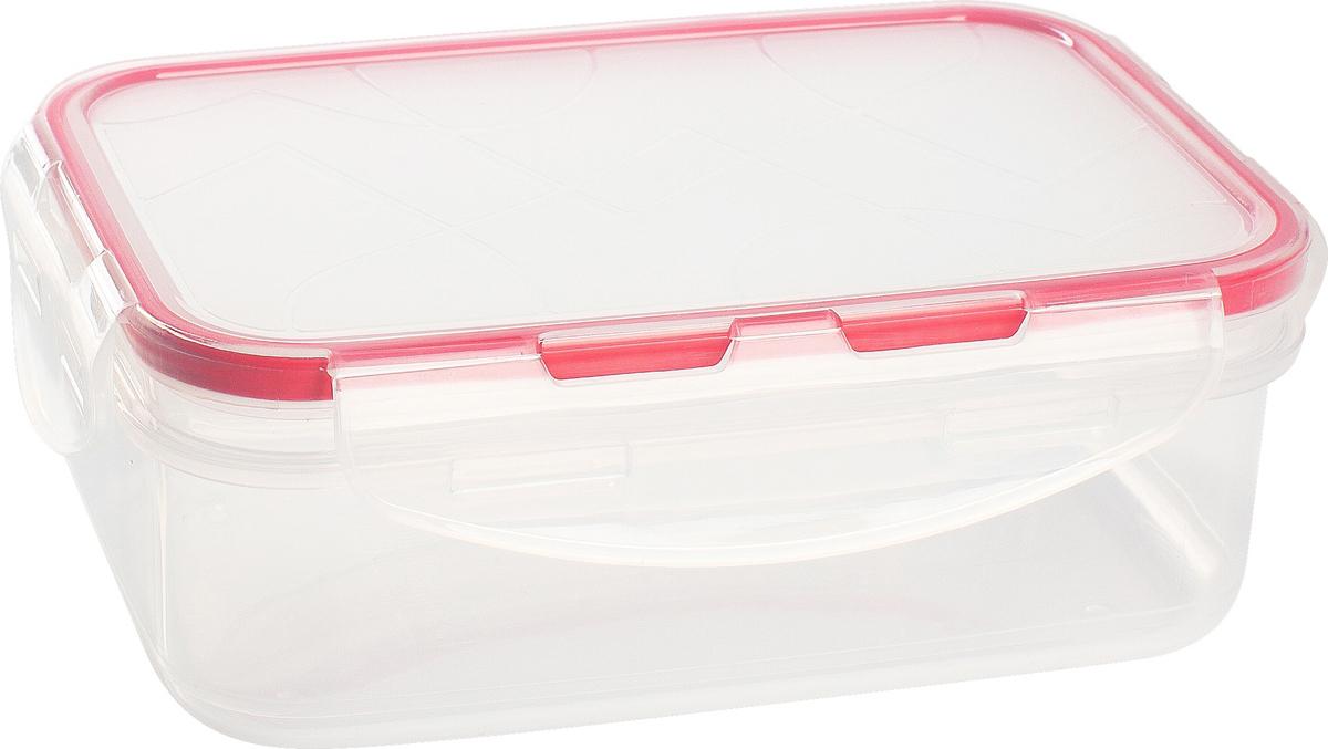 """Контейнер для продуктов Giaretti """"Clipso"""", прямоугольный, цвет: черри, 500 мл"""