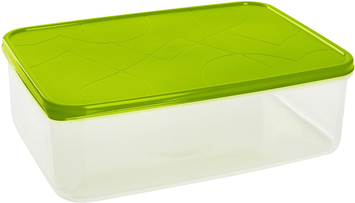 """Контейнер для продуктов Giaretti """"Vitamino"""", прямоугольный, цвет: оливковый, 2,5 л"""