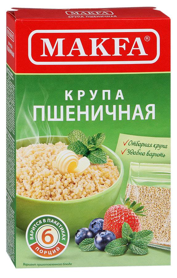 Makfa Полтавская №4 пшеничная крупа в пакетах для варки, 400 г makfa рожки 400 г