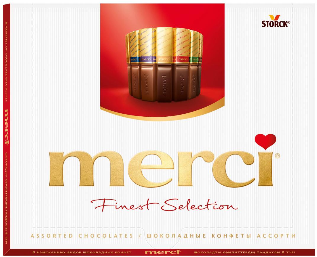 Merci Конфеты ассорти, 250 г merci набор конфет ассорти из шоколада с миндалем 250 г