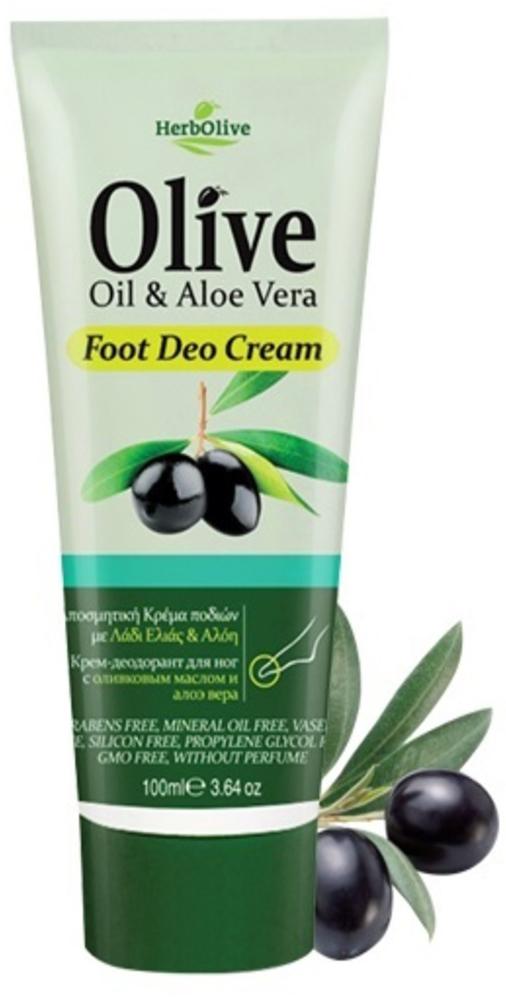 HerbOlive Крем-дезодорант для ног с алоэ-вера 100 мл