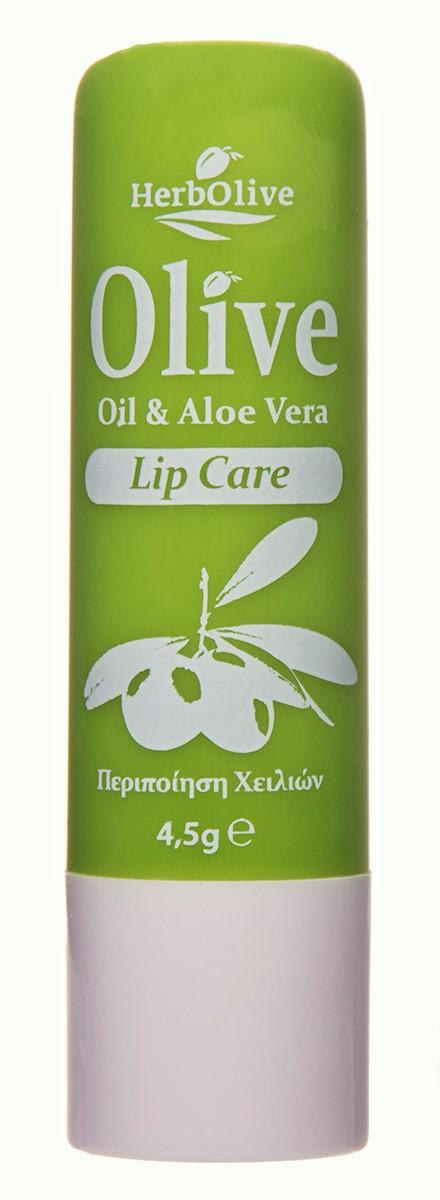 HerbOlive Гигиеническая губная помада с алоэ-вера 4,5 г недорго, оригинальная цена