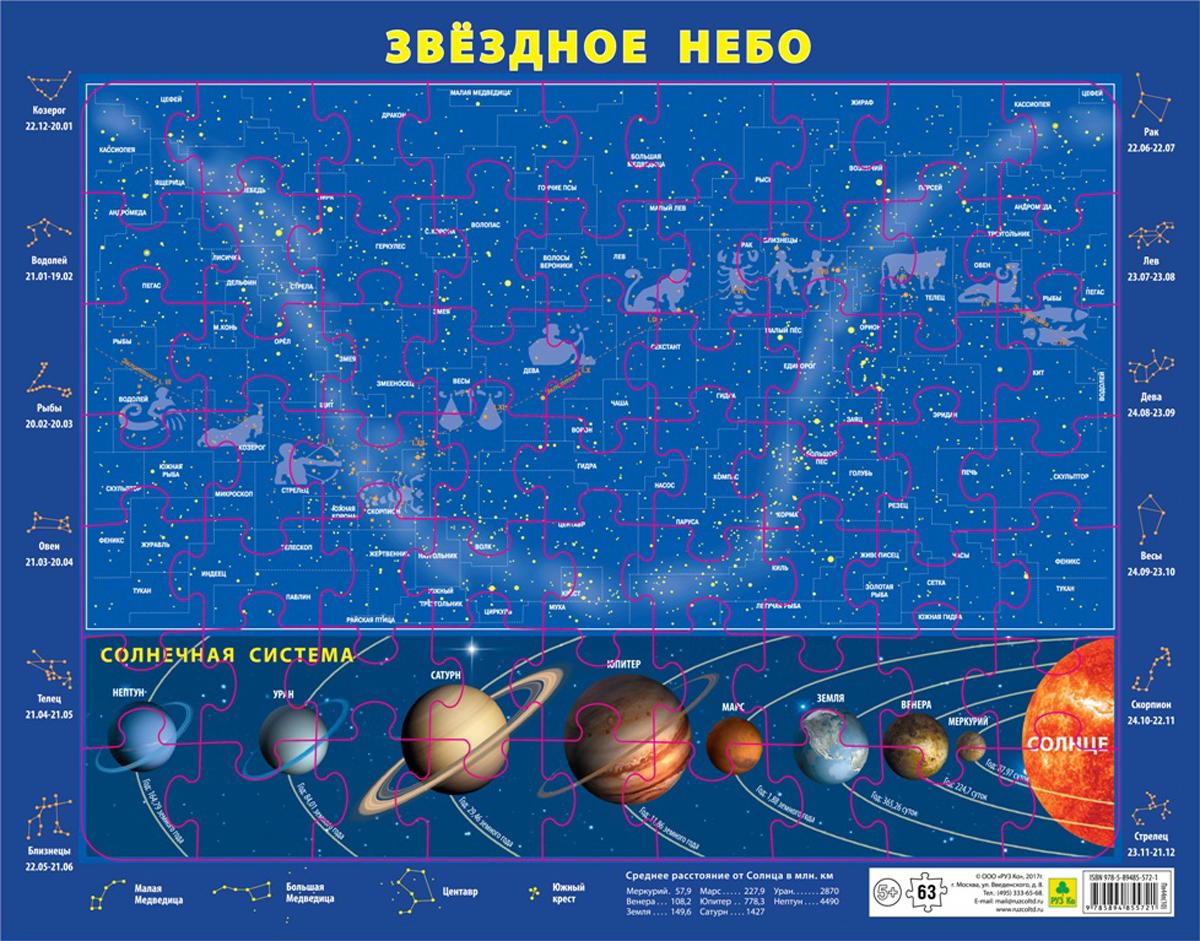 РУЗ Ко Пазл Карта звездного неба и Солнечной системы
