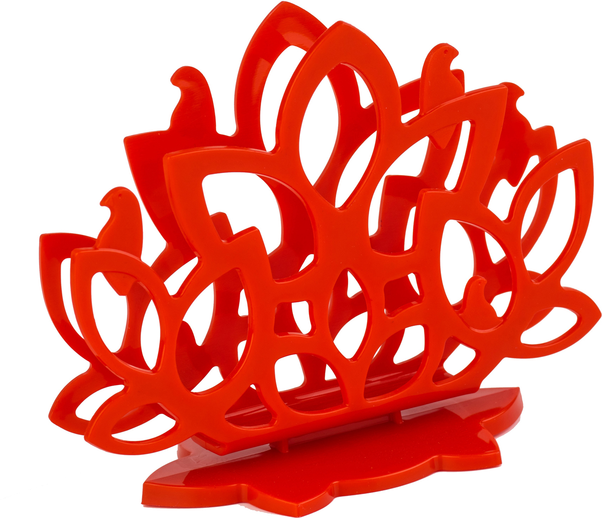 "Салфетница Plastic Centre ""Камелия"", цвет: красный"