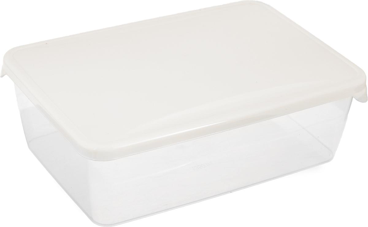 Емкость для продуктов Giaretti Браво, цвет: бежевый, 1,35 л емкость для продуктов giaretti браво цвет белый прозрачный 900 мл gr1068