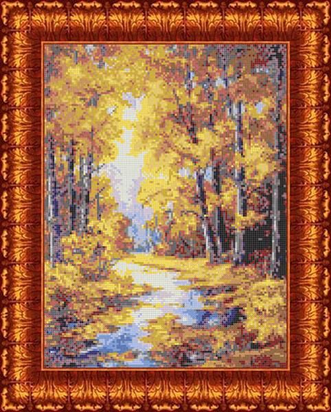 Канва с нанесенным рисунком Каролинка Осенние краски, 23 х 30 см канва с рисунком для вышивания орхидеи 28 х 34 см 1316