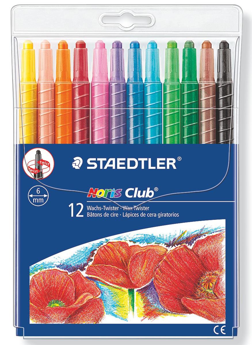 Staedtler Мелок восковой Noris Club 12 цветов 221NWP12 staedtler мелок восковой noris club 12 цветов