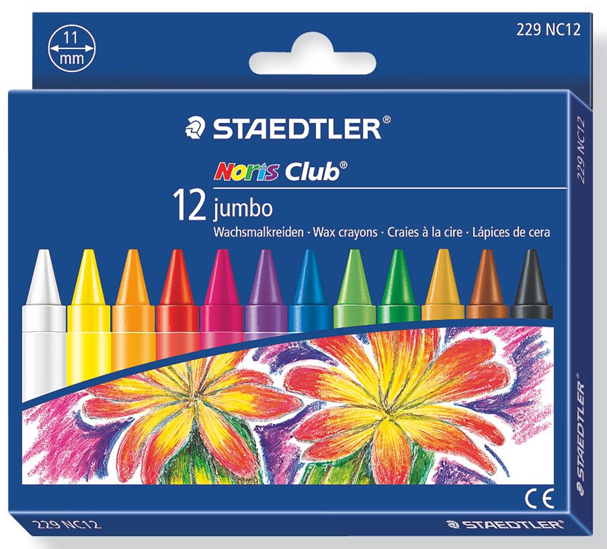 Staedtler Мелок восковой Noris Club 12 цветов staedtler мелок восковой noris club 12 цветов