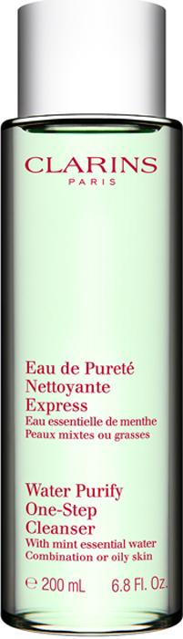 Clarins Очищающая вода для комбинированной или жирной кожи с экстрактом мяты Eau De Purete Nettoyante Express, 200 мл