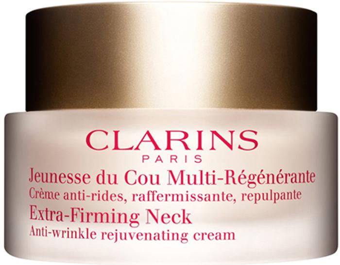 Clarins Регенерирующий крем для шеи Creme Jeunesse Du Cou, 50 мл01086100Крем с легкой тающей текстурой, разработанный специально для ухода за кожей шеи после 40 лет. День за днем он укрепляет и разглаживает ее, повышает упругость и эластичность, обеспечивает эффект лифтинга, помогает сохранить ее тонус и молодость.