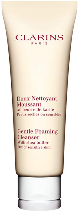 ClarinsОчищающий пенящийся крем с маслом карите для сухой или чувствительной кожи Doux Nettoyant Moussant, 125 мл Clarins