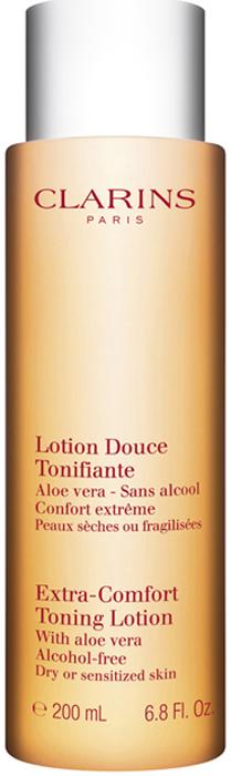 Clarins Смягчающий тонизирующий лосьон для очень сухой и чувствительной кожи Lotion Douce Tonifiante, 200 мл clarins ultra matte rebalancing lotion