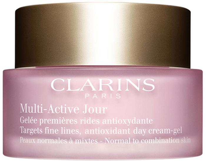 ClarinsДневной гель для предотвращения первых возрастных изменений с антиоксидантным действием для нормальной и комбинированной кожи Multi-Active, 50 мл Clarins