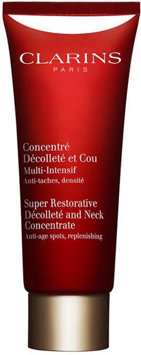 Clarins Восстанавливающий концентрат интенсивного действия для шеи и декольте Concentre Decollete Et Cou, 75 мл средство от пигментации