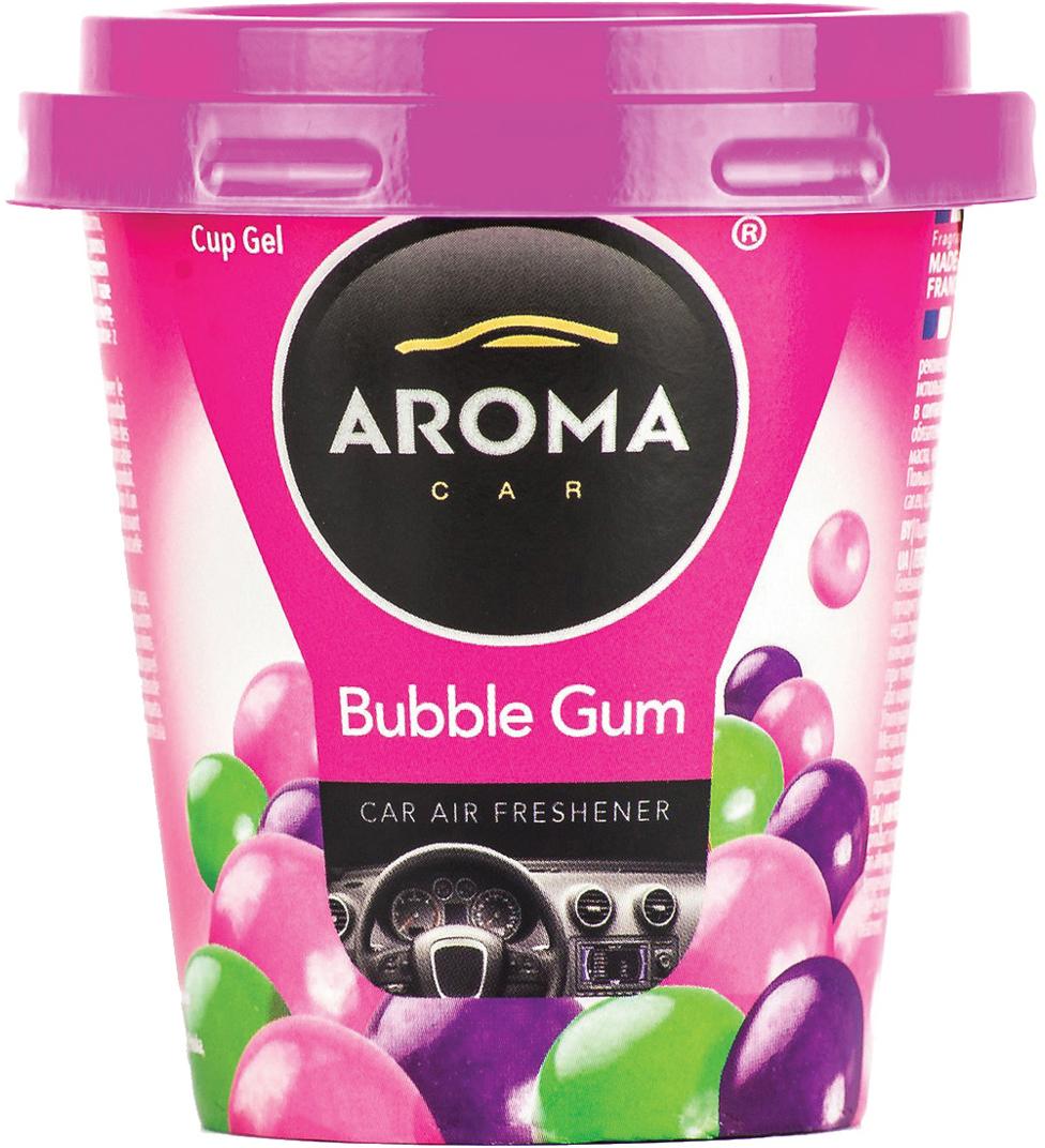 Ароматизатор автомобильный Aroma Car Cup Gel Bubble Gum, на приборную панель. AC92778 автомобильный ароматизатор golden snail aroma football ванильный крем